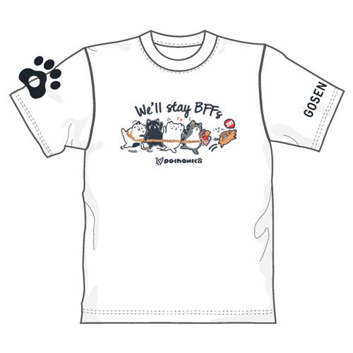 ゴーセン 新年企画Tシャツ ぽちゃネコ We'll stay BFFs 2019 (NPT10)