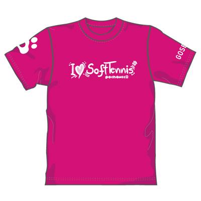 ゴーセン 2018春企画Tシャツ ぽちゃネコ I LOVE SOFTTENNIS (NPT02)